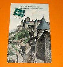CPA CARTE POSTALE 1909 CITE CARCASSONNE  LANGUEDOC ROUSSILLON TOUR INQUISITION
