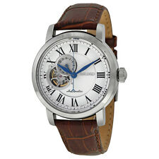 Seiko SSA231 Automatic White Dial Brown Leather Chronograph Dial Men's Watch