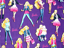FAT QUARTER  BARBIE DOLL MATTEL  FQ COTTON FABRIC  FASHIONISTA POODLE FASHION