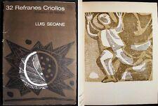 1965 ART ARGENTINA LUIS SEOANE REFRANES CRIOLLOS GRABADOS EN MADERA