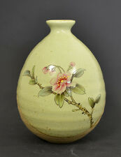 Handmade & Hand-Painted Chinese Flower Round Vase for Display Modern Ceramic