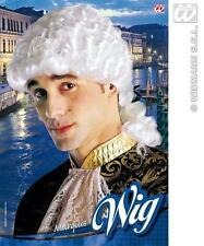 White Venetian Wig Barrister Muskateer Swords Man Prince Fancy Dress