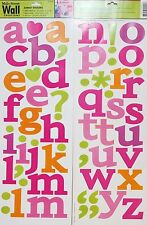 ALPHABET LETTERS wall stickers scrapbook 62 decals Girl Heart Quote personalize