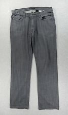 John Varvatos USA Cotton Flat Front Jeans (Mens 36) Gray