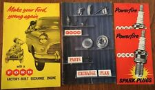 4 x Extremely Rare Vintage Ford Motor Company Leaflets 1950's - See Pictures