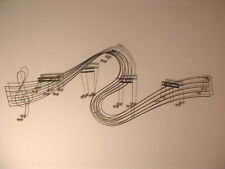 Vintage Mid Century Modern Musical Notes Wall Sculpture