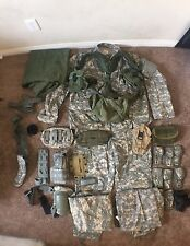 Lot of United States Army Uniform And Combat Gear.