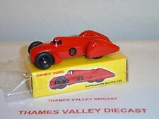 ATLAS EDITIONS DINKY TOYS, 23 D, AUTO-UNION RACING CAR, RED, + CERT OF AUTH