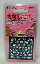 Fing'rs 3D Nail & Toe Art Stick On Decals For Fingers & Toes 2 Art Sheets NIP