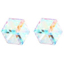 AB Transparent Clair de lune Cube Boucles D'oreilles 6mm