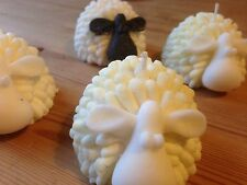 Unusual Novelty Sheep Candle. Great Gift Present. Handmade In Limited Numbers.
