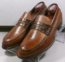 241313 MSi60 Men's Shoes Size 10.5 M Tan Leather Made in Italy Johnston & Murphy