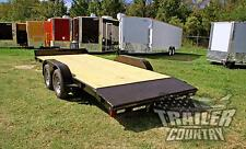 NEW 2017 7 x 18 7K Rice Open Deck Utility Equipment CarHauler Car Hauler Trailer