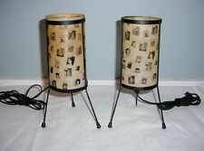 GREAT PAIR OF EAMES ERA FIBERGLASS SHADE LAMPS TIME MAGAZINE COVERS DECORATION