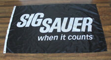 Black Sig Sauer When It Counts Flag Firearms Sign Banner Logo Gun Shop Store NRA