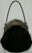 Sterling Silver Ornate Cherub Mourning Opera Purse by Gorham c.1919