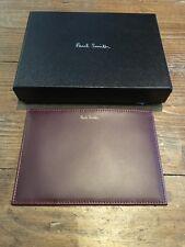 Paul Smith Striped Passport Wallet BNIB Designer Mens Accessories & Gifts Damson