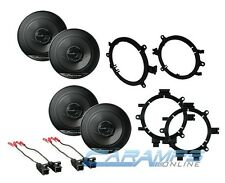"PIONEER 6.5"" CAR TRUCK STEREO FRONT & REAR DOOR SPEAKERS W/ MOUNTING BRACKETS"