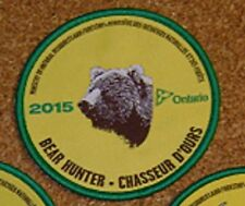 2015  RARE MNR,ONTARIO, BEAR Hunting Patch,Crest, [deer,bear,moose,elk] BIG SALE