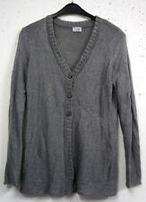 NEU Kangaroos elegante Damen Langarm Fein Strick Jacke in grau silber Gr. 40/42