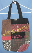 "Desigual ""Happy Life, All Together"" Cotton Shopper Utility Handbag BAG Tote"