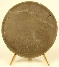 Médaille en graphite à Napoléon Ier Bonaparte petit index biographique medal XIX