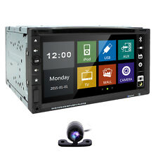 7 Inch HD Touch LCD 2-DIN MP5 FM Radio Bluetooth Car DVD CD Player + Rear Camera