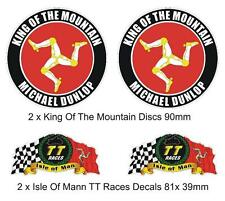 ISLE of MAN TT MANX Moto GP Michael Dunlop  Bike-Helmet Stickers-Decals x 4