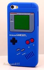 for iphone 5 5s silicone soft case blue green nintendo game boy design