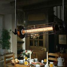 Industrial Vintage Flute Pendant Lamp Kitchen Bar Hanging Chain Ceiling Light