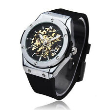 Mens Designer Big Watch Style Fusion Bang Skeleton Clear hublot godsjunkyard