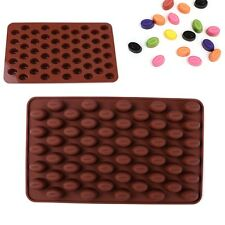 55-cavity Mini Coffee Beans DIY Silicone Chocolate Cake Candy Soap Baking Mold