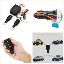 Black 10-14V Wireless Remote Control Car SUV Truck Keyless Entry System Lock Kit