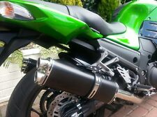 Kawasaki ZZR1400 2012    Black Tri-oval Twin Outlet ROAD LEGAL MTC Exhaust