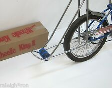 "New ""WHEELIE KING"" Bicycle Show Bar w/ BLUE Wheels for Banana Muscle Bike"