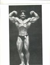 bodybuilder MIKE MENTZER 1976 Mr America Bodybuilding Muscle Photo B+W