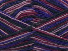 50 Gram Purple Lilac Black Wine Sock Yarn Ice #45333 Superwash Wool, Nylon 218yd