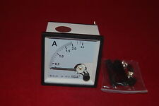 AC 0-2A Analog Ammeter Panel AMP Current Meter 72*72mm directly Connect