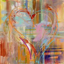 ABSTRACT ART PRINT - Abstract Heart by Amy Dixon 24x24 Love Romantic Poster