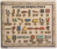 Égyptien hiéroglyphique alphabet tapis de souris