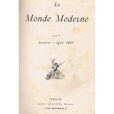 Le MONDE MODERNE Janvier-Juin 1897 Retour des Cendres Costumes Allemands Musique