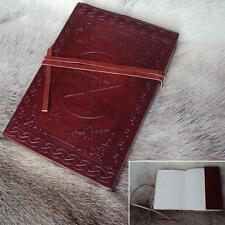 Leather Wrapped Pentagram Journal / Diary / Note Book with Leather String.