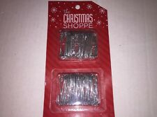 Set of 200 Christmas Shoppe Metal Ornament Hooks - Silver
