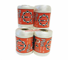 4 Extra Strong Nylon Polyester Sewing White Thread Spools Large 200m Heavy Duty