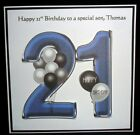 Personalised Handmade Balloons 21st Birthday Card Son Grandson Godson Nephew