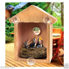 See Through Window Mirrored Bird House