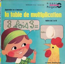 DISQUE ILLUSTRE PERGOLA--LA TABLE DE MULTIPLICATION / TABLES DE 2 A 10