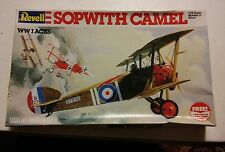 016 Vintage Revell WWI Aces Sopwith Camel 1/28 Scale Plastic Model Kit 4419