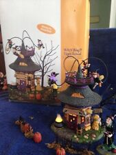 Dept 56 Witch Way? Flight School 55347 Lites Up 3 Witches Rotate Around & MORE