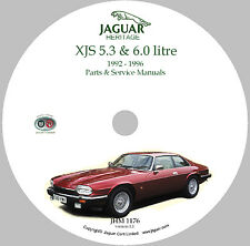 1992 to 1996 Jaguar V12 XJS Parts and Service Manual on CD-ROM (Used)